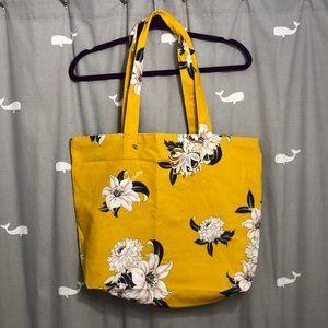 Loft yellow floral tote bag